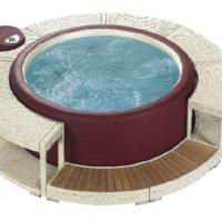 Softub® Whirlpool 220 Legend Innenliner pearl + Wasserpflege Startpaket