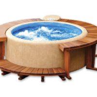 Softub® Whirlpool 220 Legend  Innenliner blau + Wasserpflege Startpaket