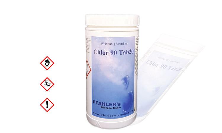 Chlor Reinigungstabletten 90/20 1 kg Dose