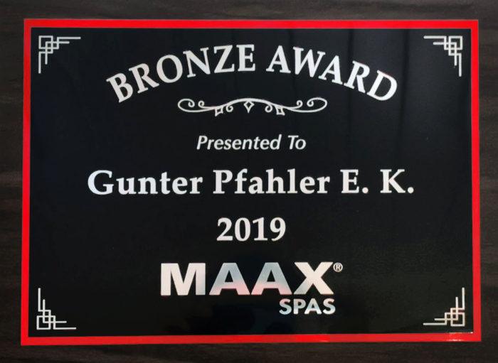 BRONZE AWARD 2019 MAAX SPAS