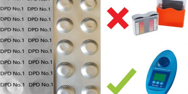 SCUBA II-Testtabletten-DPD No. 1 Chlor