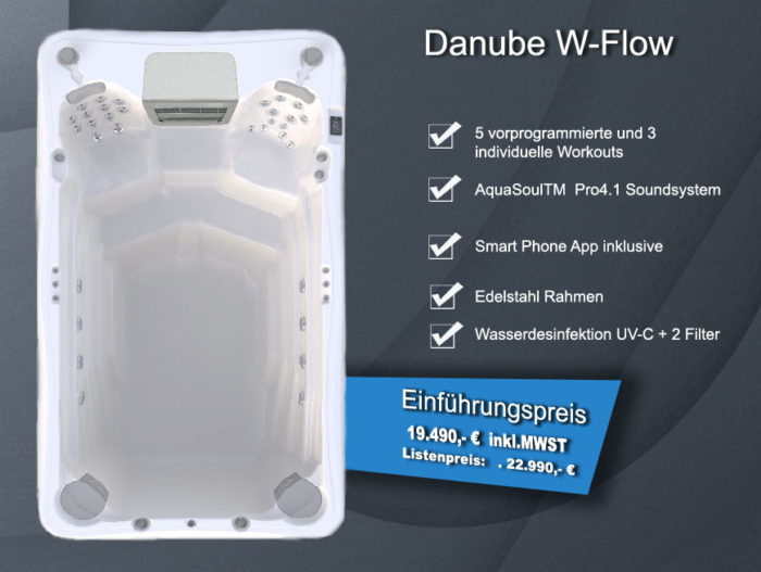 Danube W-Flow - Swim Spa Angebot