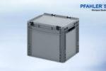 Eurobehälter-Eurobox mit Scharnierdeckel 40 x 30 x 33,5 cm