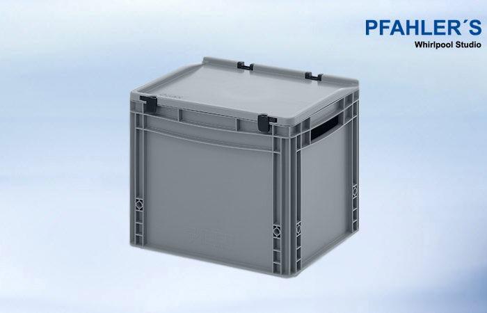 Eurobehälter-Eurobox mit Scharnierdeckel 40 x 30 x 33,5 cm Kaufen