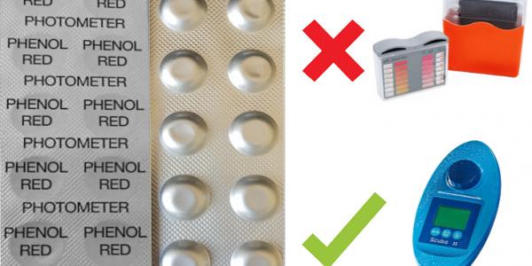 SCUBA II-Testtabletten-Phenol Red pH