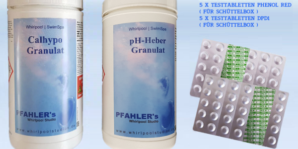 Calhypo – Chlor pH Heber Basis Set / Chlor pH Testtabletten für Schüttelbox