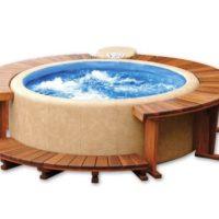 Softub® Whirlpool 300 Resort Innenliner blau + Wasserpflege Startpaket