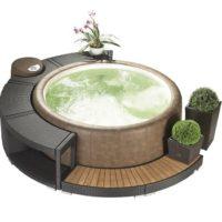 Softub® Whirlpool 300 Resort Innenliner pearl + Wasserpflege Startpaket