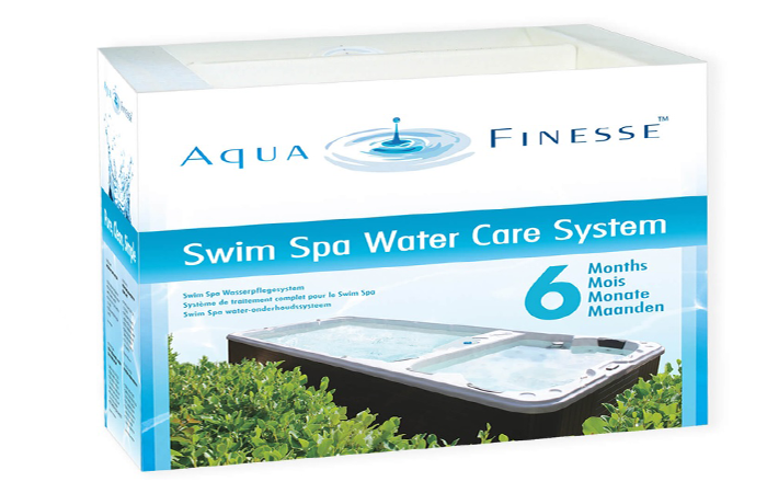 AquaFinesse Swim Spa Box mit Chlortabletten